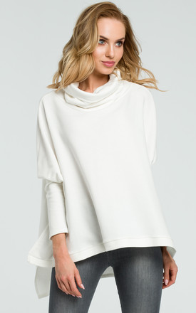 Oversized roll neck in white by MOE