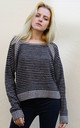 Crop Jumper in Black and Grey Stripe by CY Boutique