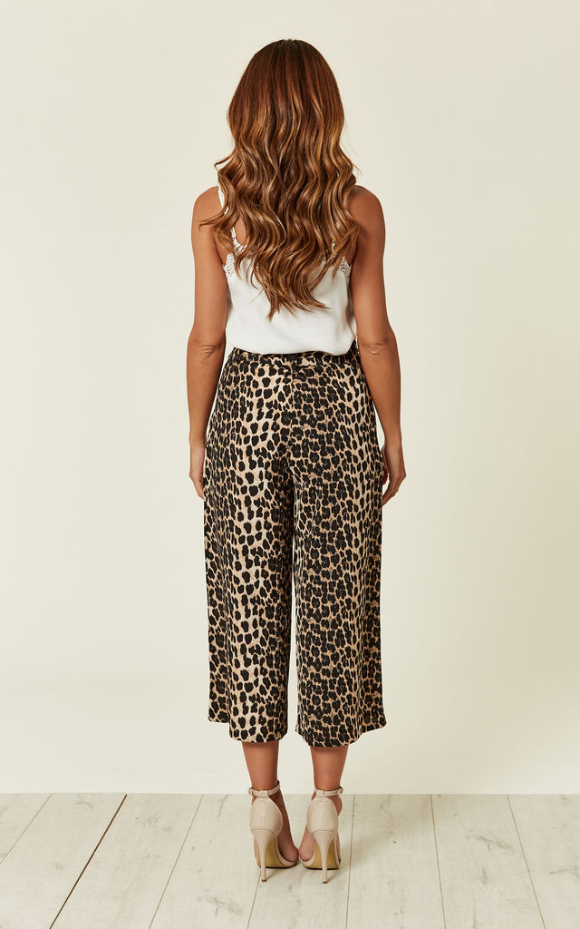 Leopard Print Culotte Trousers by MISSI LONDON