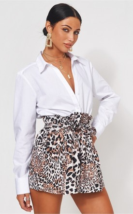 Leopard Print Tie Waist Shorts by The Fashion Bible