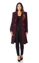 Katrina Wine Military Midi Coat by De La Creme Fashions