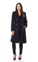 Katrina Navy Military Midi Coat by De La Creme Fashions