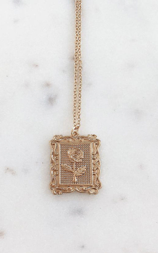 Bleeker Rose Gold-Tone Necklace by Ajouter Store