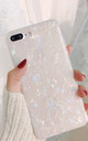 Isabel Iridescent Sparkly Glitter Pink and White Fleck iPhone 8 by Ajouter Store