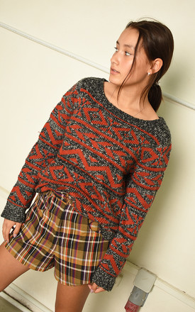 90s Fair Isle knit Paris chic flare sleeve jumper by Lover