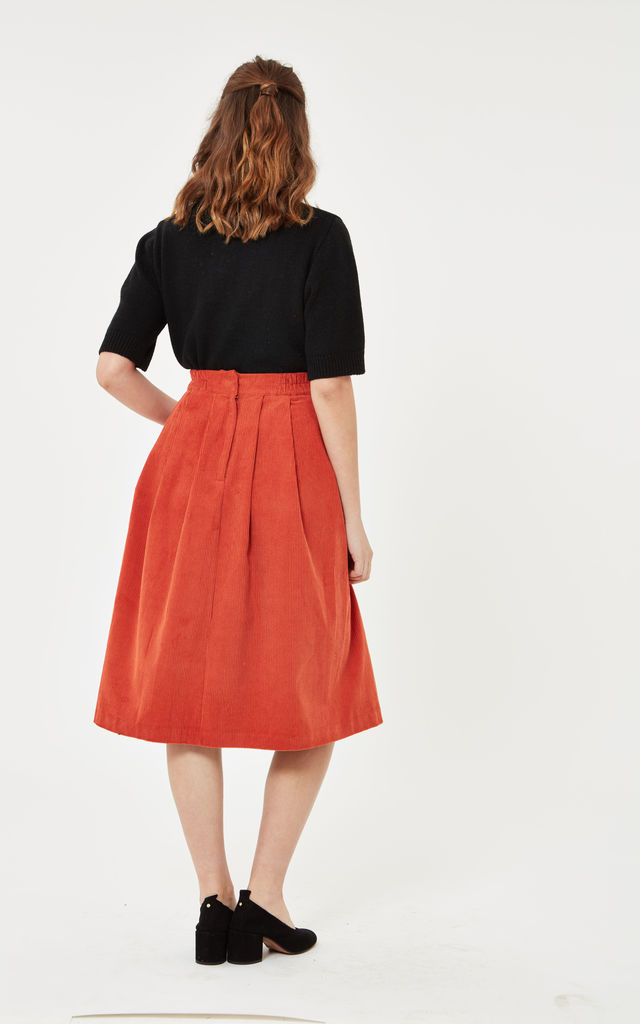 Corduroy Midi Skirt by Leggsington