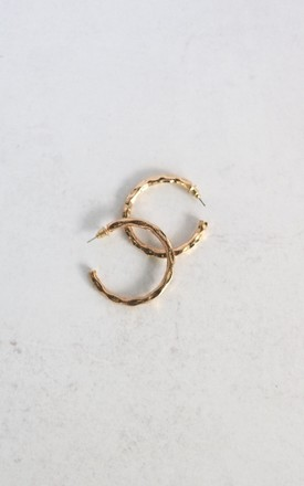 Steph Gold Hoop Earrings by AVAAYA