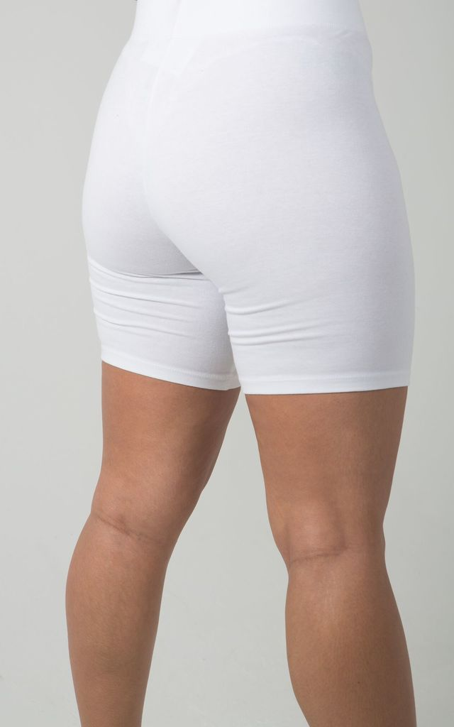 Mono Cycle Shorts in White by SORBELLO LONDON