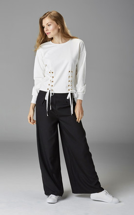 Black Slouch High Waisted Wide Leg Trousers by Very Stylish Girl