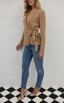 The Kate Wrap Cardi in Camel by Kiss Kiss