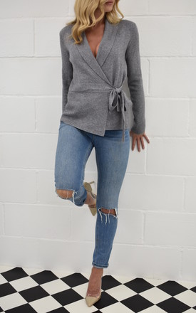 The Kate Wrap Cardi In Grey by Kiss Kiss Product photo