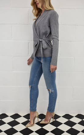 The Kate Wrap Cardi in Grey by Kiss Kiss