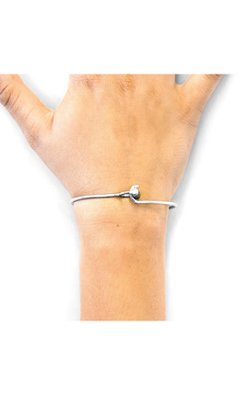HARDY BUCKLE MIDI GEOMETRIC SILVER BANGLE by ANCHOR & CREW
