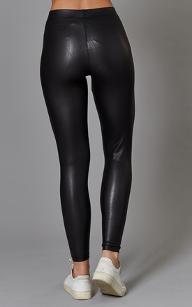Black PU Leather Leggings by ONLY