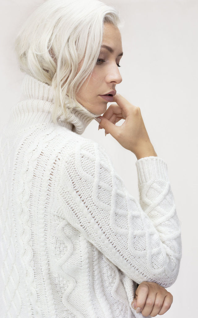 THE BURT LAMBSWOOL ROLL NECK JUMPER by IGGY & BURT