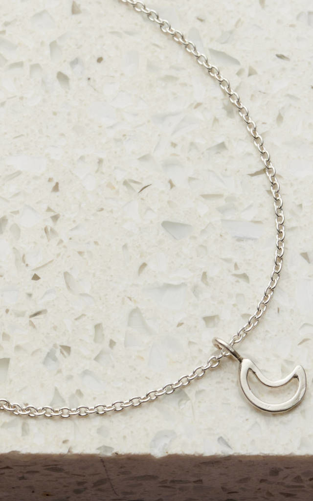 Sterling Silver Crescent Moon Bracelet by Posh Totty Designs