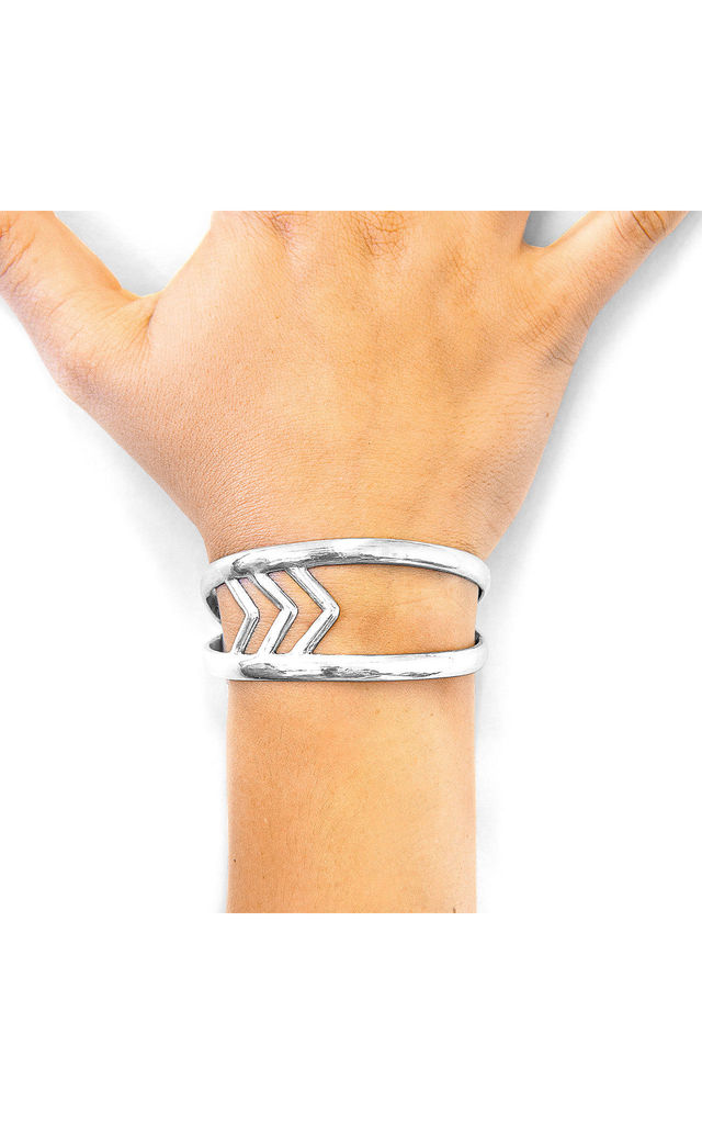 MONTANITA MAXI SURF SILVER BANGLE by ANCHOR & CREW