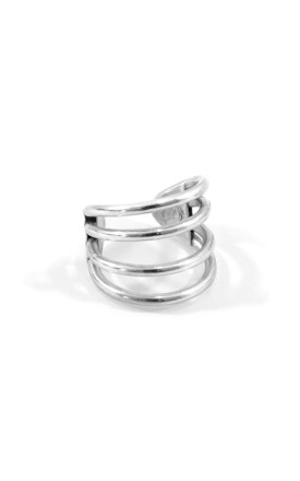 BONDI SURF SILVER RING by ANCHOR & CREW