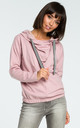 Powder Hooded Sweater With Front Pleat by MOE