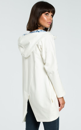 Hooded Oversized Sweater in cream by MOE