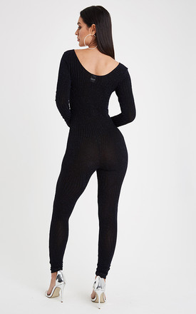 Scoop Neck Glitz Jumpsuit - Navy by Neish Clothing