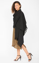 Kasa Oversized Merino Wool Scarf in Black by likemary
