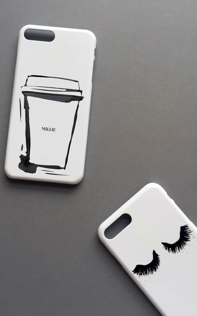 But first . . . Coffee - Monogram phone case by Rianna Phillips