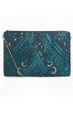 Evelyn Blue Art Deco Beaded Small 20s Purse Bag by Jywal