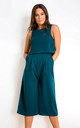 Lexie Sleeveless Layer Culotte Jumpsuit Emerald Green by Girl In Mind