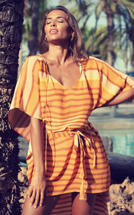 Florence Crepe Dress in Stripes by Kitten Beachwear