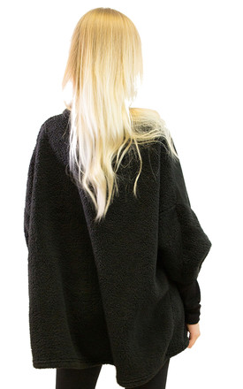 Oversized Jumper with Skull Design in Black by CY Boutique
