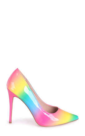 Phoenix Pink Multi Ombre Effect Stiletto Court Heel by Linzi