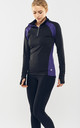Purple/Black Performance Training Top by Calmia