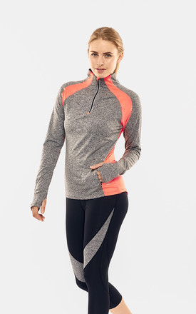 Mid Grey/ Coral Performance Training Top by Calmia