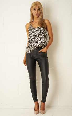 Morgan Black Wax Coated Jeans by love frontrow