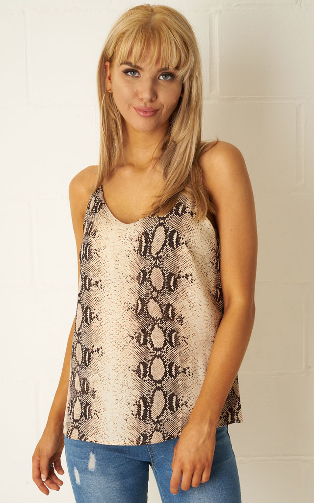 Lyla Snake Print Cami Top by Frontrow Limited
