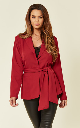Wrap Blazer With Self Tie Belt by UNIQUE21