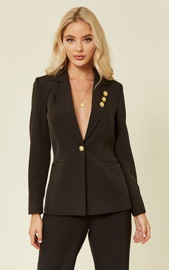 Blazer With Gold Button Detail by UNIQUE21