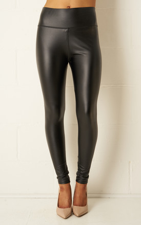 Kayla Black Faux Leather High Waist Leggings by love frontrow Product photo