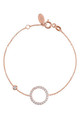 Rose Gold bracelet with SPARKLING HALO CIRCLE charm by Latelita