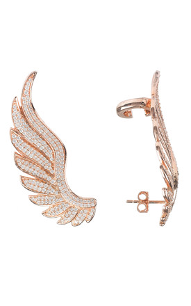 GABRIEL ANGEL WING EAR CLIMBER ROSE GOLD for RIGHT EAR by Latelita