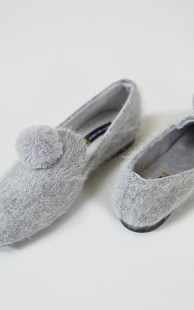 House Shoes in Blair Grey by Pretty You London