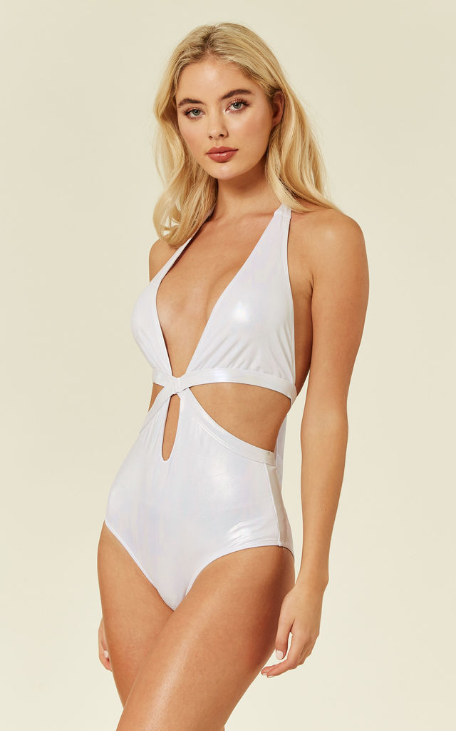 Cut Out White Swimsuit by UNIQUE21