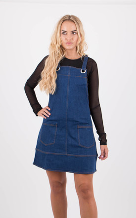 Denim Pinafore Dungaree Dress by MISSTRUTH
