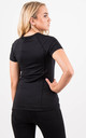 Black Fitness Short Sleeve Fitted Sporty Stretch Top by MISSTRUTH