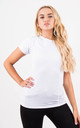 White Fitness Short Sleeve Fitted Sporty Stretch Top by MISSTRUTH