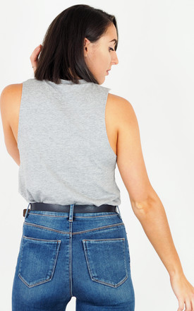 Grey Slouch Vest Top - Plain by Rock On Ruby