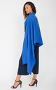 Oversized Merino Wool Pashmina Travel Scarf in Cobalt Blue by likemary