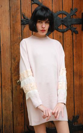 Tassel Fringed and sequin embellished sleeves Jumper by CY Boutique