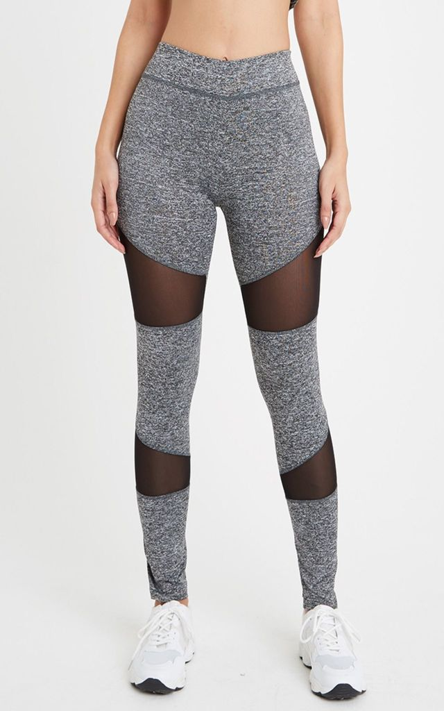 11fd347d54e00 Mesh Sports Gym Leggings Grey | Neish Clothing | SilkFred